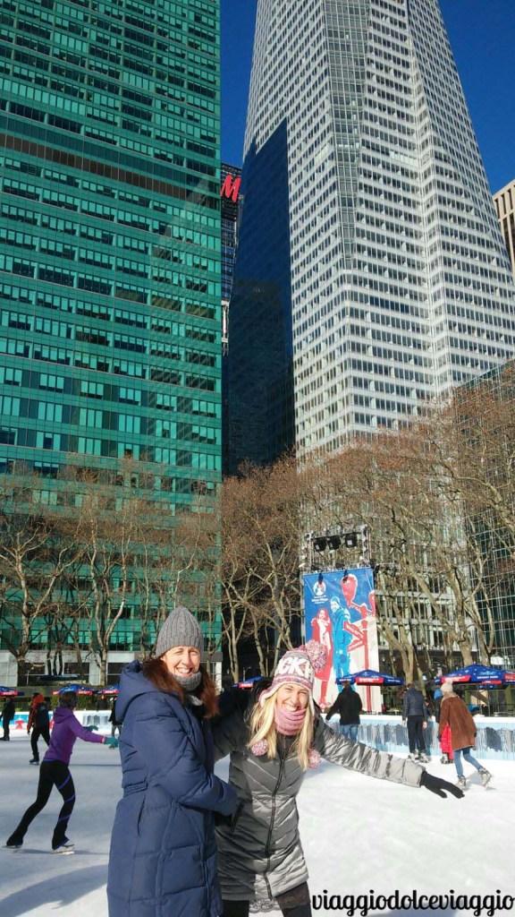 pattinare a bryant park new york
