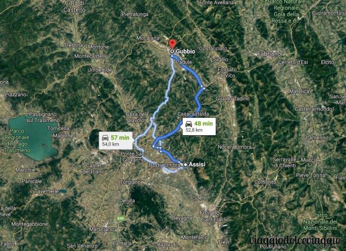 Itinerario, in moto, in Italia centrale