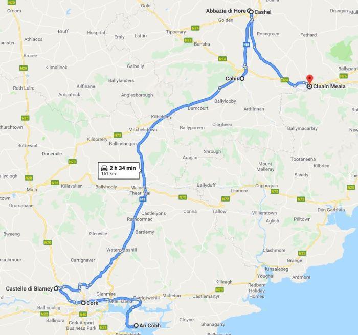 Itinerario in Irlanda del sud