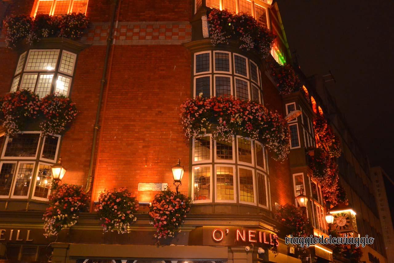 Dublino, cena al pub O'Neill