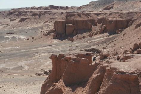 Flaming cliff gobi desert