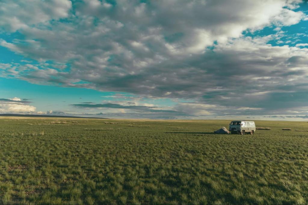 viaggiare via terra tenda
