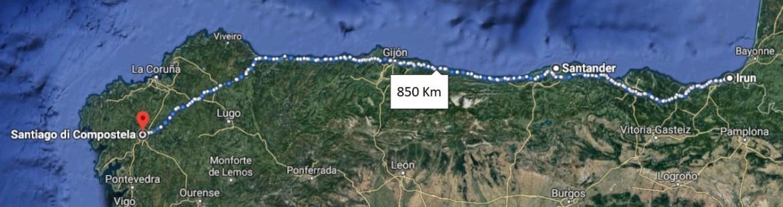 Cammino di Santiago del Nord - Mappa da Irun