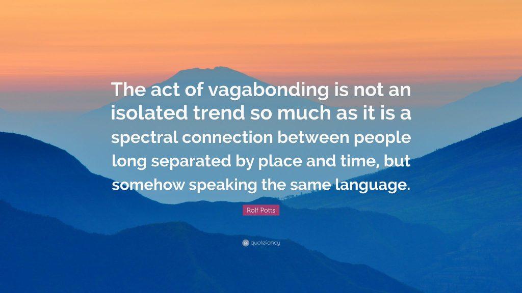 vagabonding quote