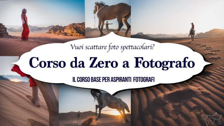 Banner corso da zero a fotografo