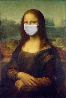 monalisa con mascherina