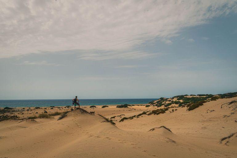 vista dune di sabbia sardegna