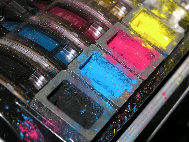 inchiostro a base di pigmenti