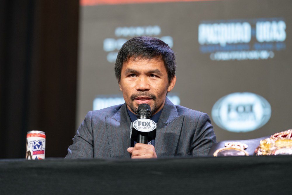 Pacman at press conference