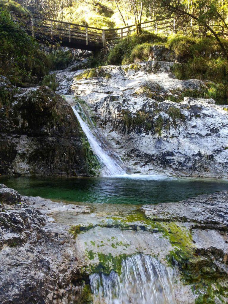 trekking lago del Mis ai Cadini del Brenton e Cascata La Soffia