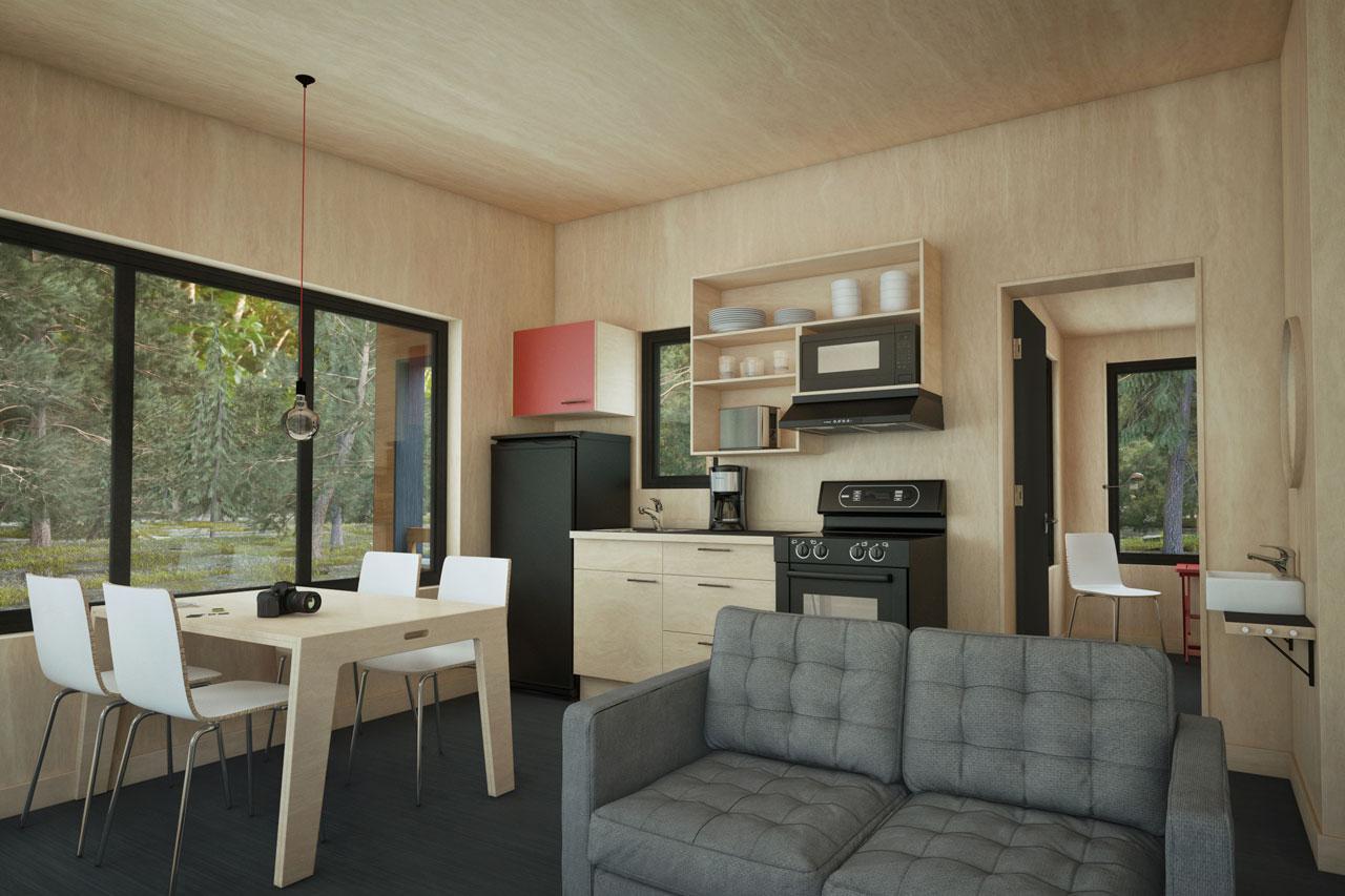 meuble cuisine en bois massif