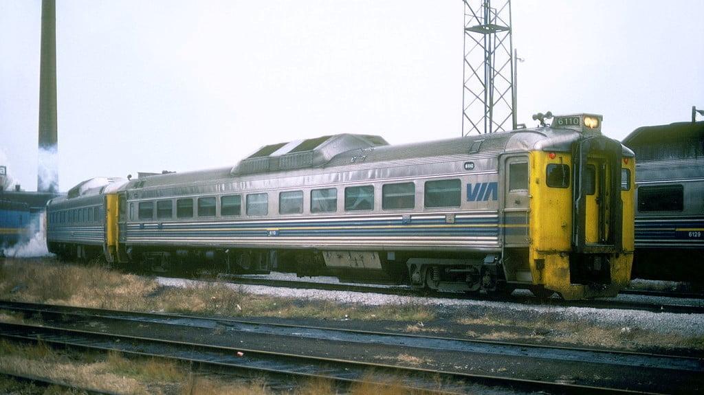 VIA Rail RDC1 6110 at Spadina Yard in Toronto, Ontario