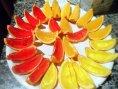 Amarillo, Naranja, Rojo: Gelatinas de frutas en gajos de naranja