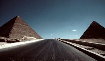 Las pirámides de Egipt en una perspectiva desacostumbrada