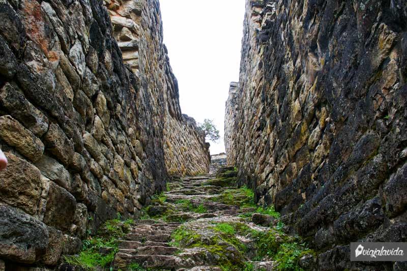 Escaleras de ingreso en la puerta tres.