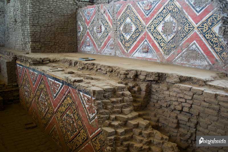 Arte en los antiguos murales de la Huaca de la Luna.