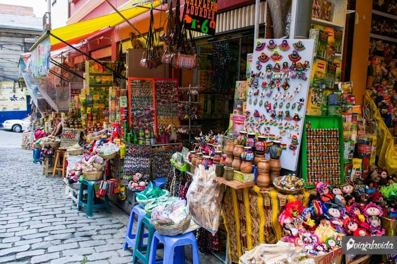Mercado callejero en La Paz.