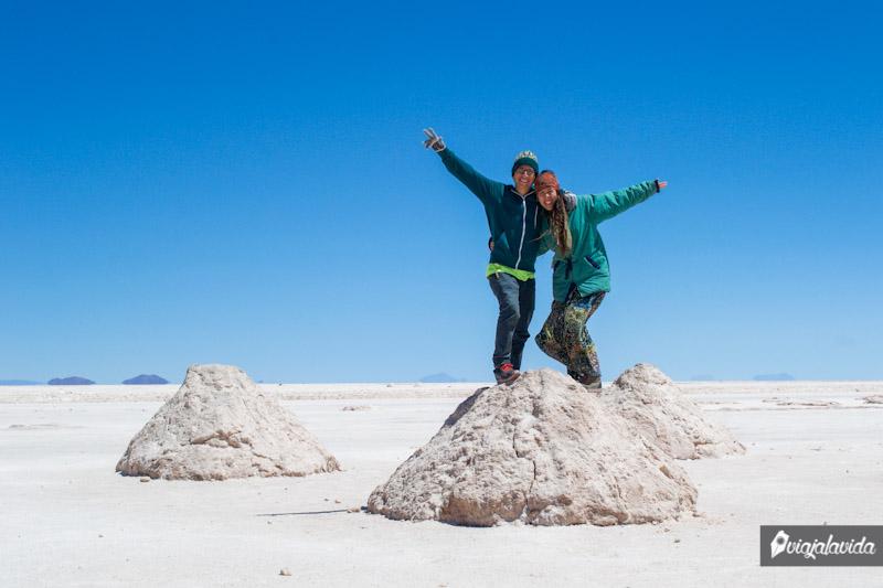 Cosecha de sal en Uyuni.