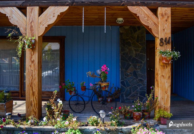 Bicicleta de adorno.