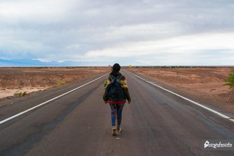 Carretera en el desierto de Atacama.