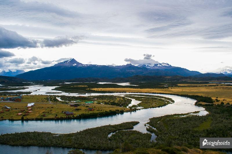 Paisajes en Torres del Paine. Chile.