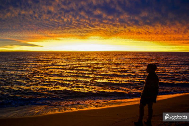 Caída del sol en Punta del Este.