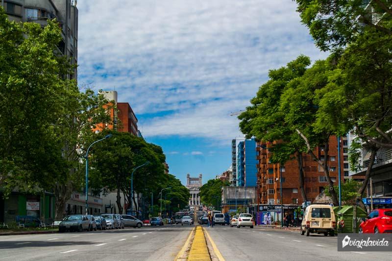 Avenidas en Montevideo.