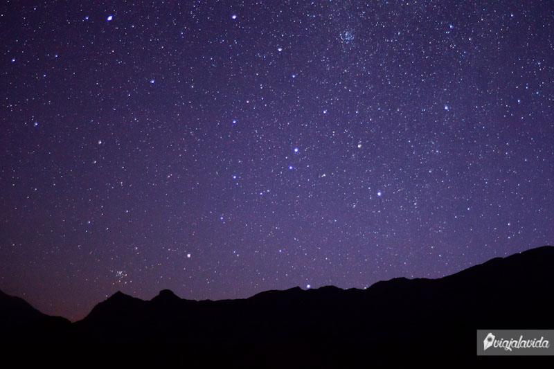 Cielo estrellado en la Quebrada de las Conchas.