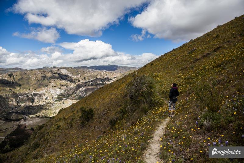 Caminos alternos en el Quilotoa.