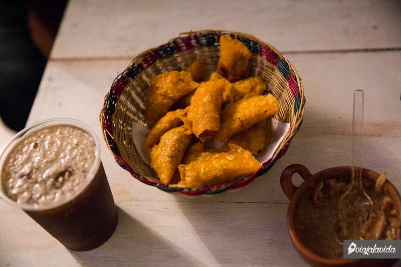 Comida típica en Popayán.