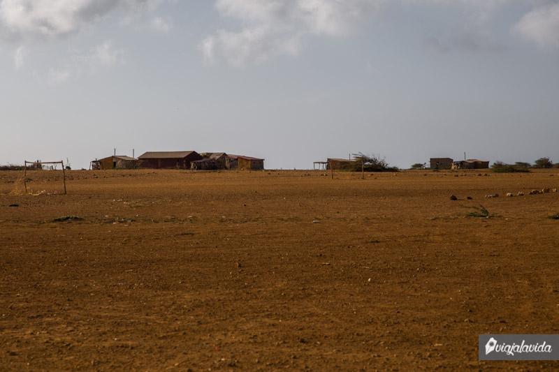 Viviendas en la Alta Guajira.