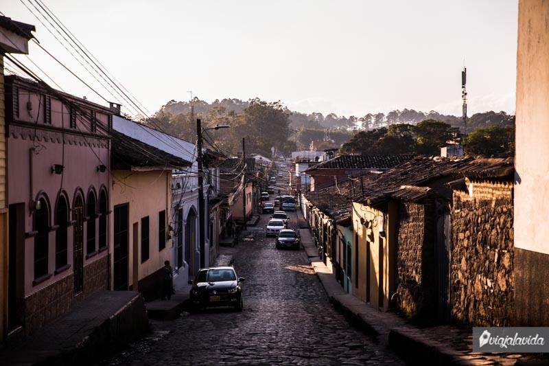 Calles empedradas en Honduras.
