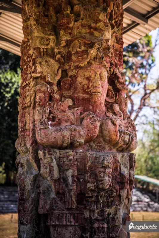 Estelas Mayas en Honduras.