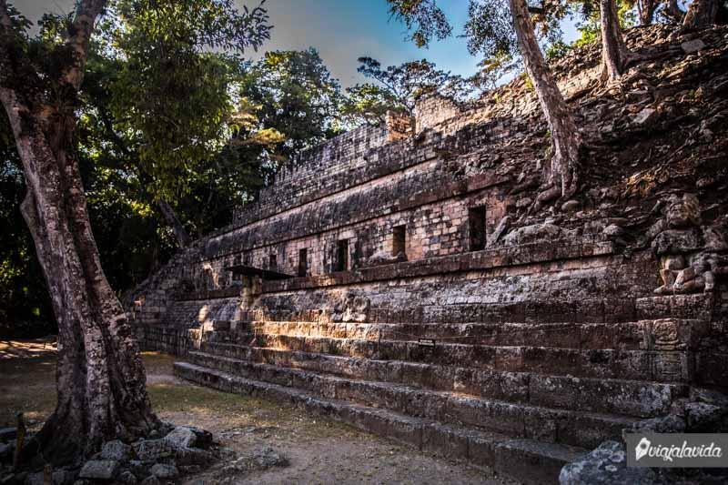 Edificaciones Mayas en Copán Ruinas.