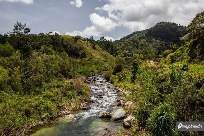 Río en Pijao, Eje Cafetero.