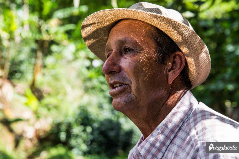 Don Leo, caficultur, Buenavista.