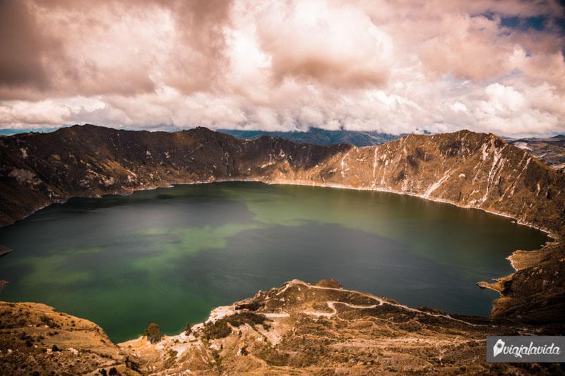 Laguna de Quilotoa en Ecuador.