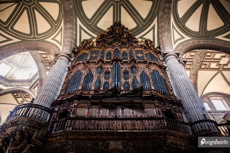 Órgano de la catedral de México.