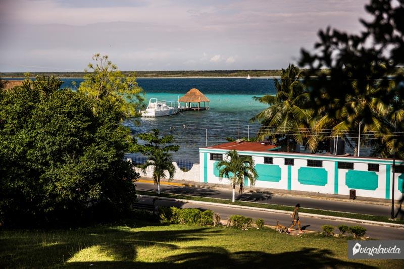 Laguna de 7 colores en Bacalar.