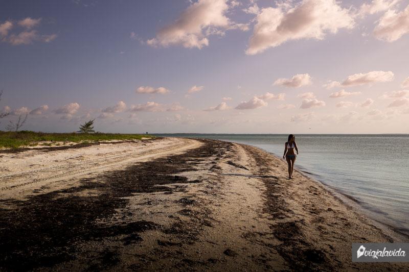 Hacia Punta Coco en Holbox.