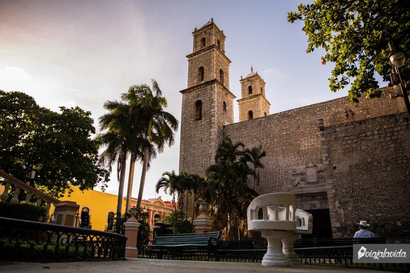 Parque Hidalgo, centro de Mérida.