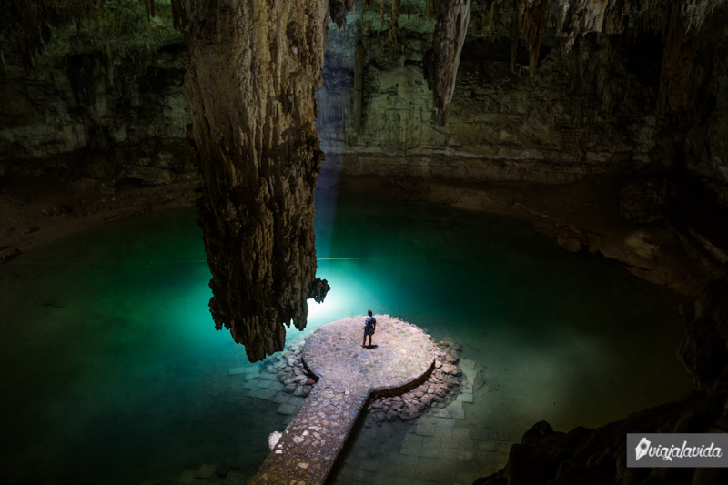 Cenote Suytun en Valladolid.