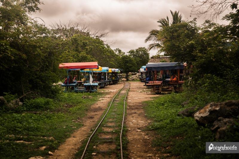 Rieles antiguas en Cuzamá.