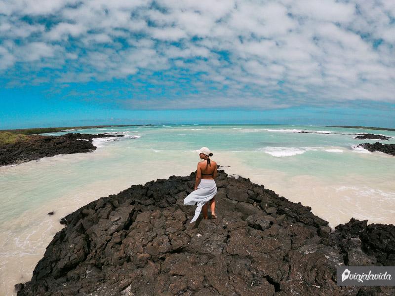 De las mejores playas en la isla Santa Cruz
