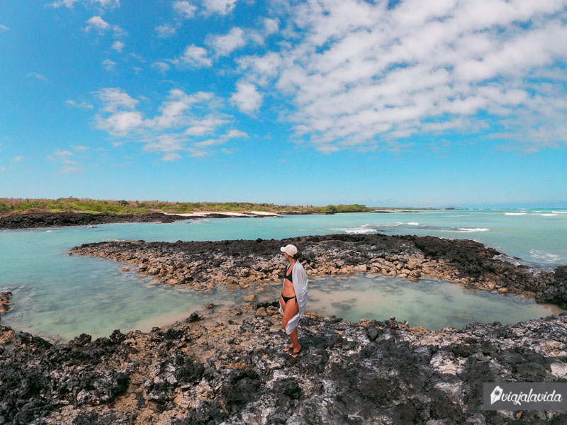 Paisajes de las playas de Galápagos