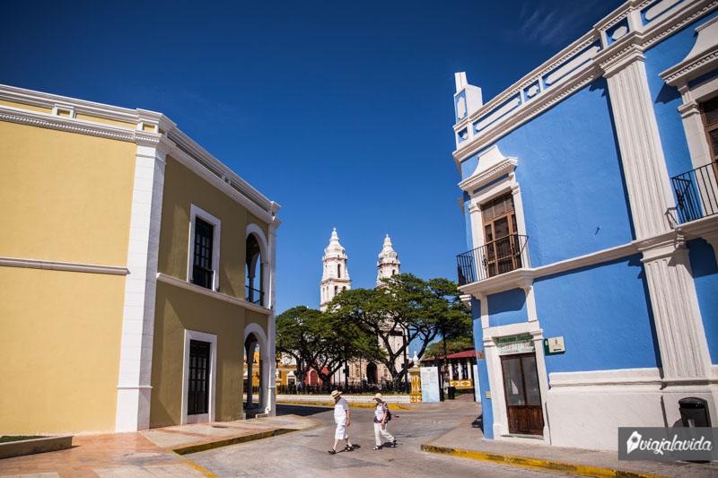 Calles del Centro Histórico de Campeche.