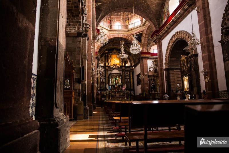 Dentro de la iglesia en San Miguel de Allende