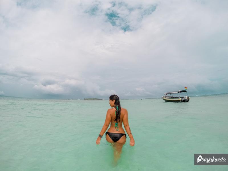 Piscina natural en las Islas San Blas.