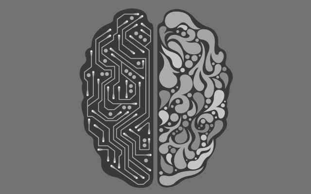 Cerebro positrónico y cerebro humano.