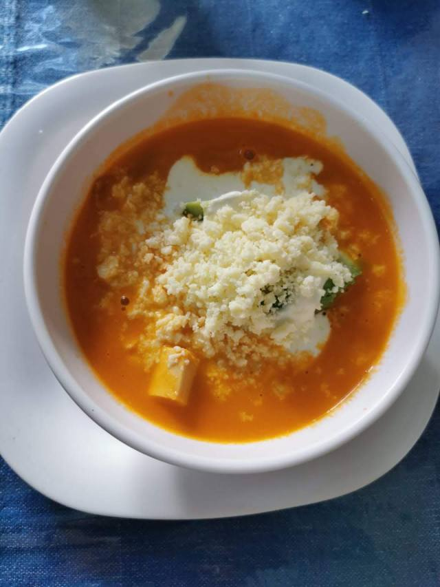 Sopa Azteca estilo Oaxaca.